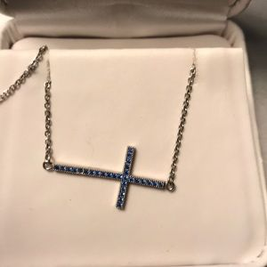 Jewelry - FLASH SALE sterling silver sideway cross necklace